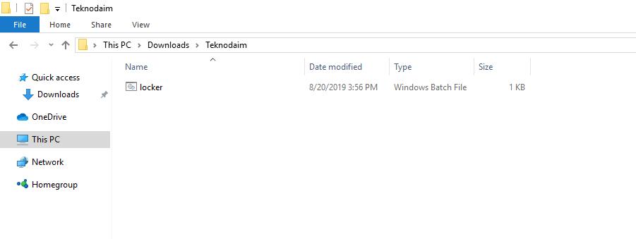 Cara mengunci file rahasia dan cara membuat password data by teknodaim 3
