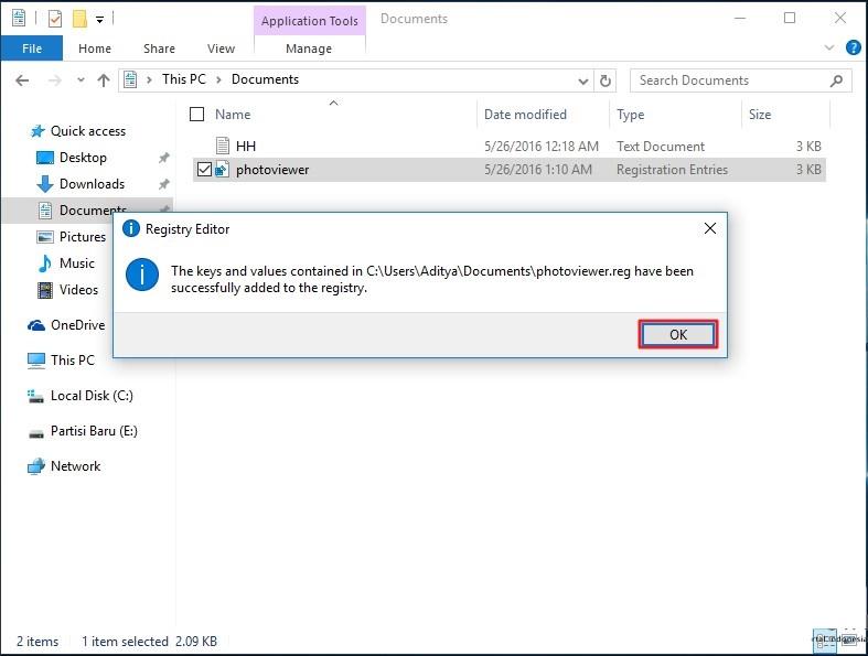 Mengembalikan kembali windows photo viewer di windows 10 5
