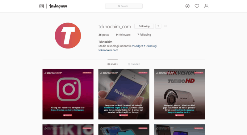 Cara cek trafik followers di instagram by teknodaim