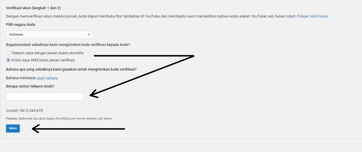 Ini cara verifikasi akun youtube by teknodaim 5