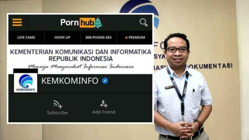 Akun kominfo di situs pornhub by teknodaim