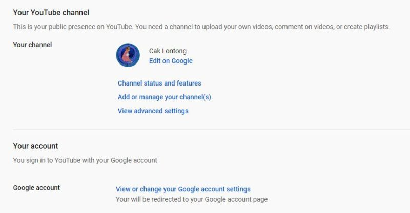 Cara membuat channel baru di youtube by teknodaim