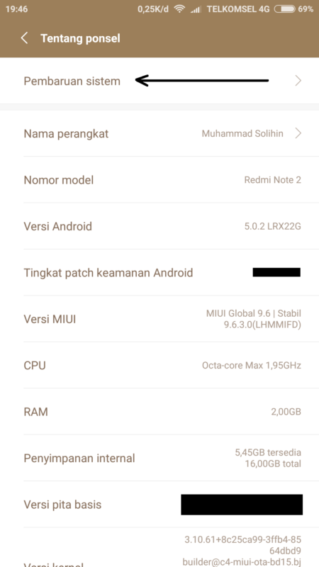 Cara update android by teknodaim 2