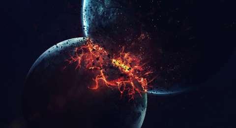 Planet yang bertabrakan by teknodaim