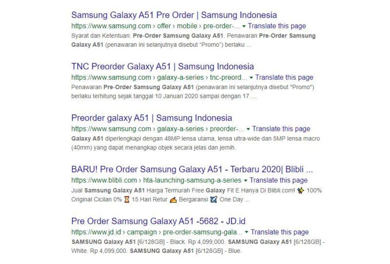 Pre order hp samsung galaxy a51 by teknodaim