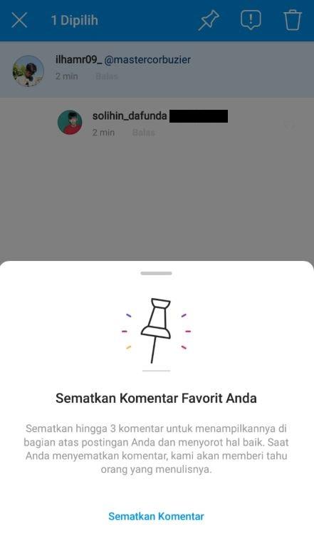 Komentar Di Instagram Bisa Di Pin By Teknodaim