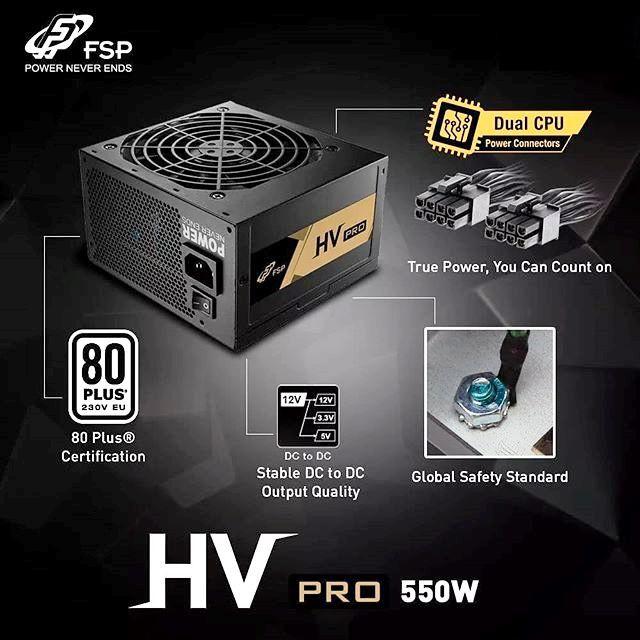 FSP HV PRO 550w 80+