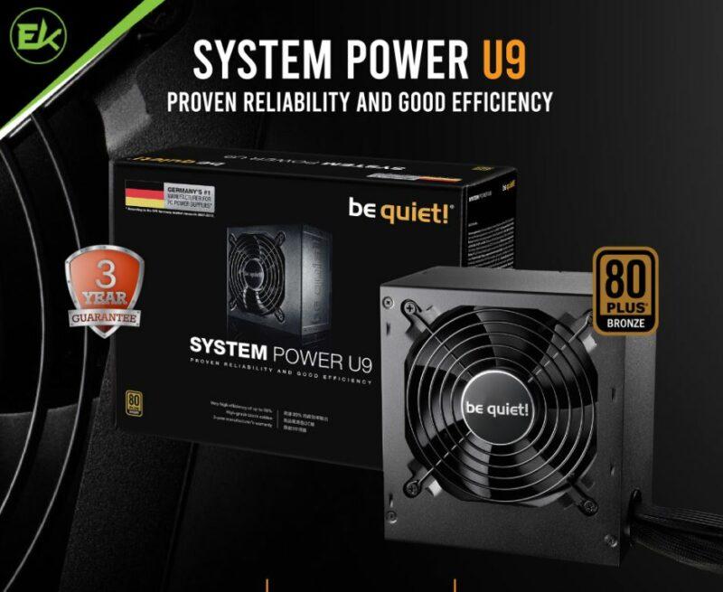 Power Supply Murah Terbaik dibawah 1 Jutaan, Be Quiet System Power U9 500w 80+