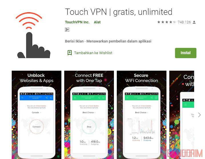 Aplikasi VPN Terbaik Nomor 2, Touch VPN