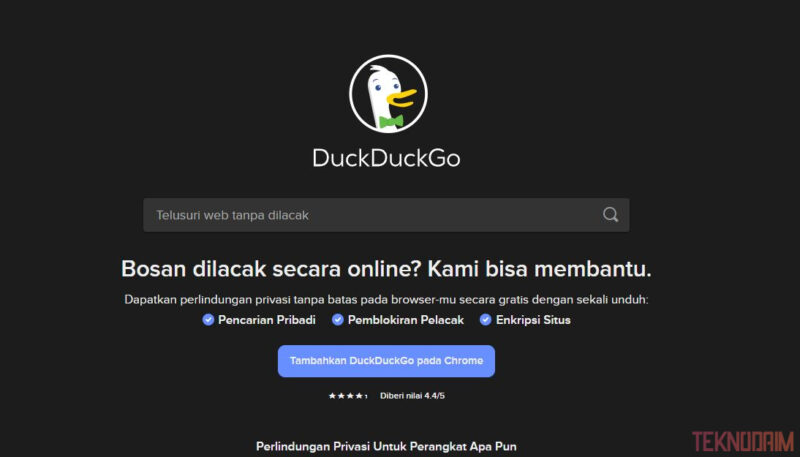 Mesin Pencari Terbaik dan Teraman Selain Google, DuckDuckGo