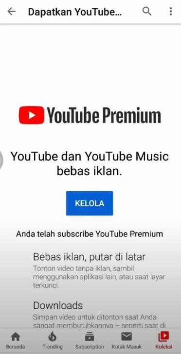 Foto Petunjuk Cara Berhenti Berlangganan Youtube Premium 4