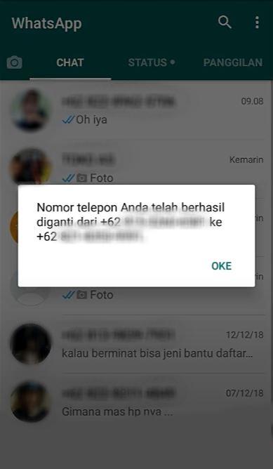 Foto Petunjuk Cara Mengganti Nomor Whatsapp 6
