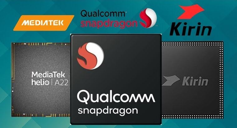 Ilustrasi Chipset Mediatek, Qualcomm Dan Kirin