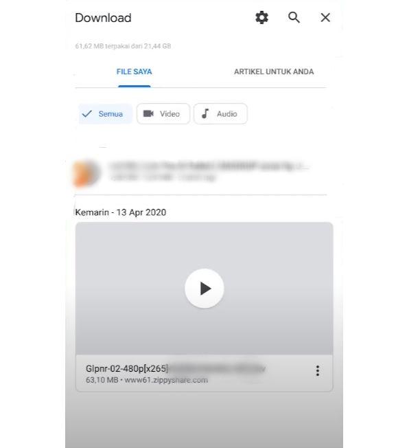 Petunjuk Foto Cara Download Lagu YouTube di HP 6