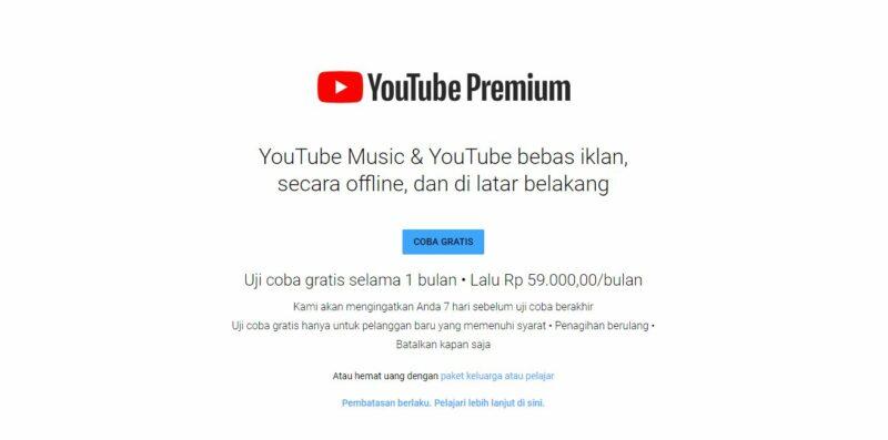 YouTube Premium Gratis Selama 1 Bulan