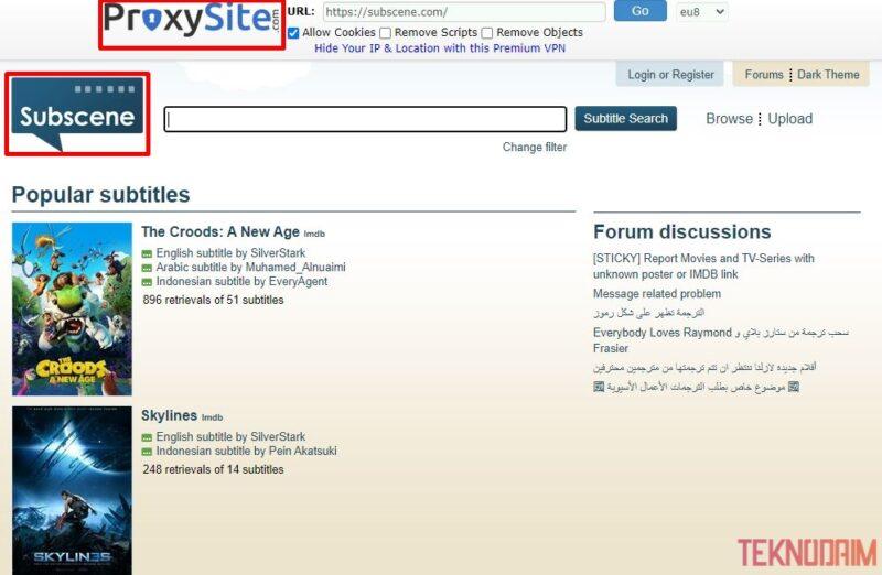 Berhasil Masuk Situs Diblokir Menggunakan Proxysite