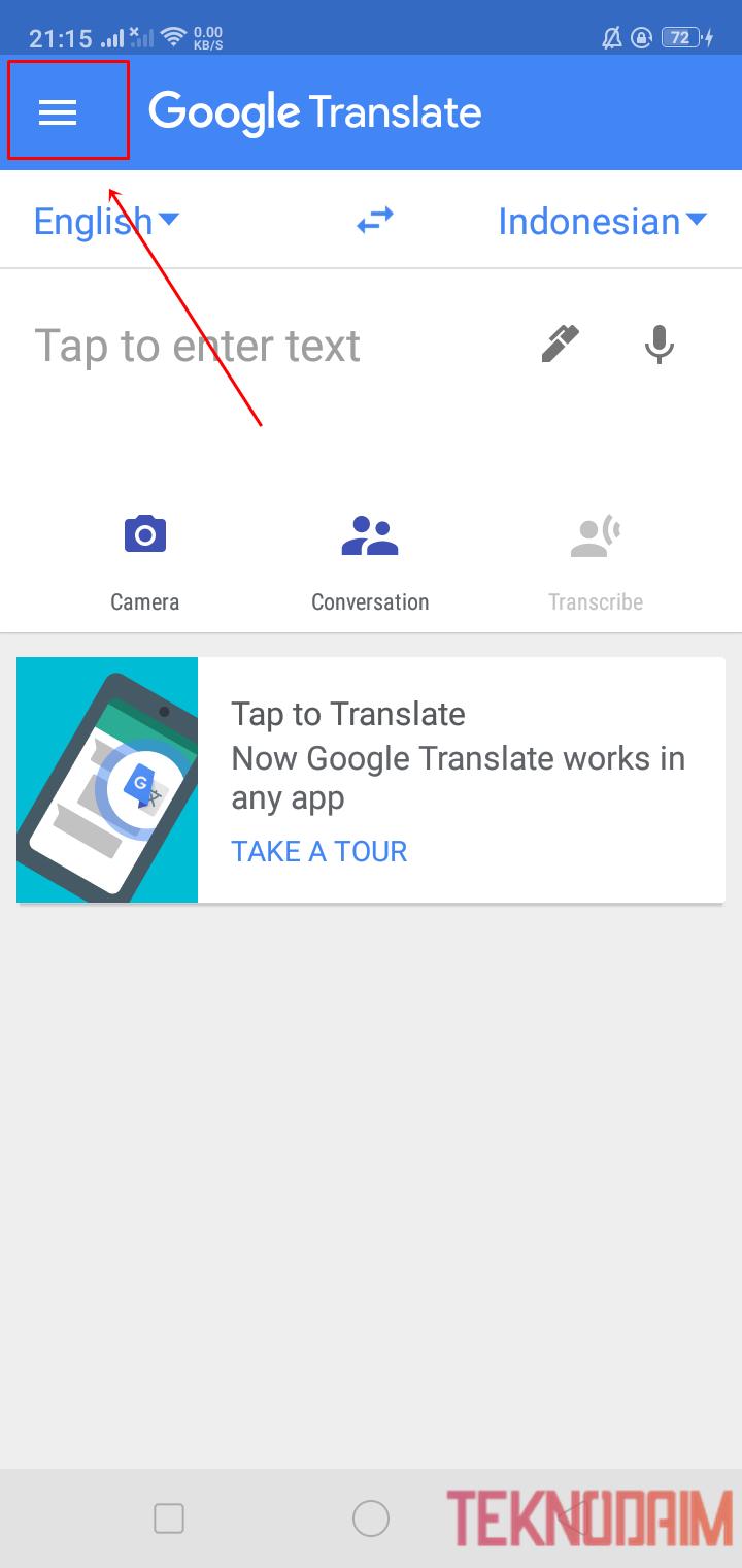 Buka Aplikasi Google Translate