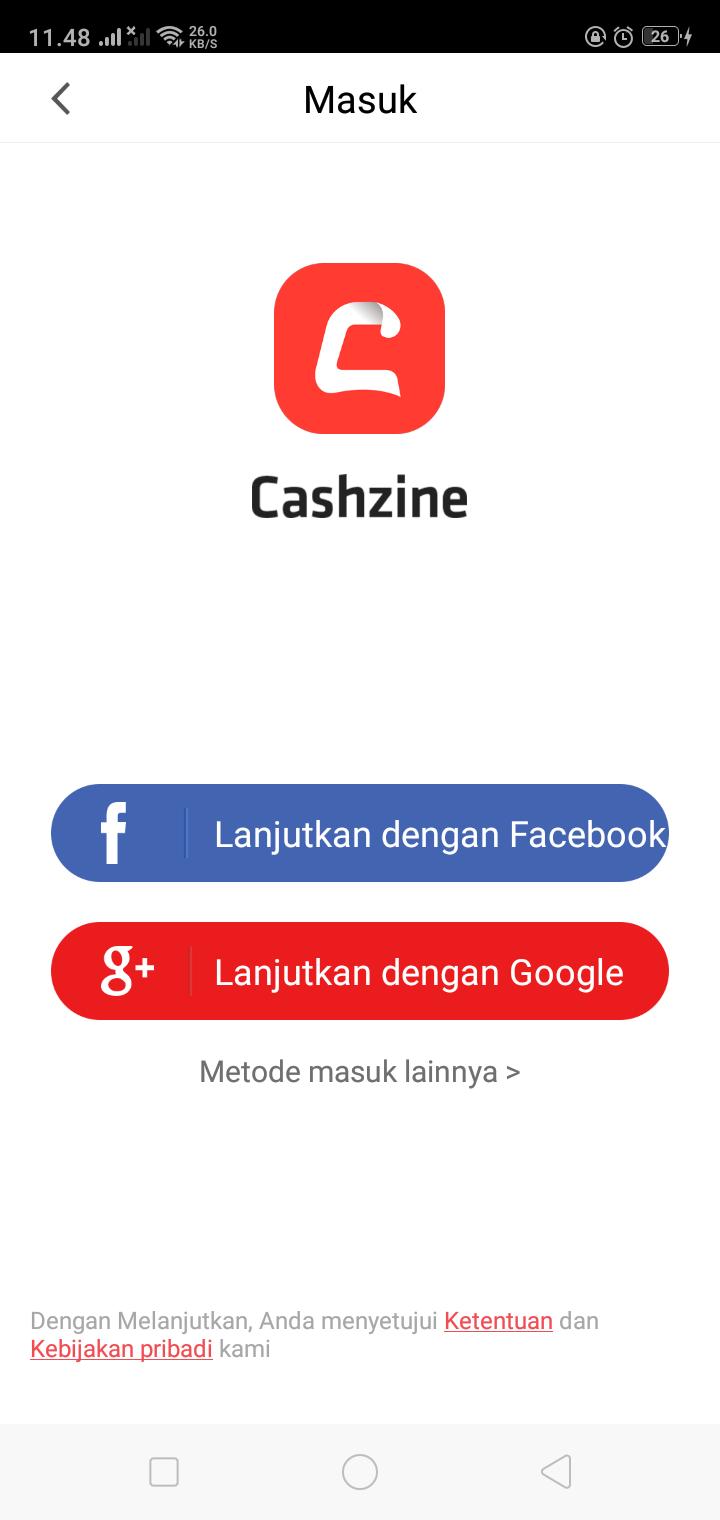 Daftar Akun Cashzine