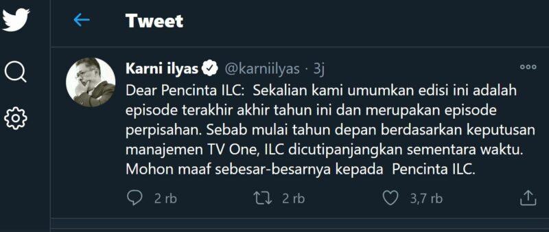 Episode Terakhir Indonesia Lawyer Club 2