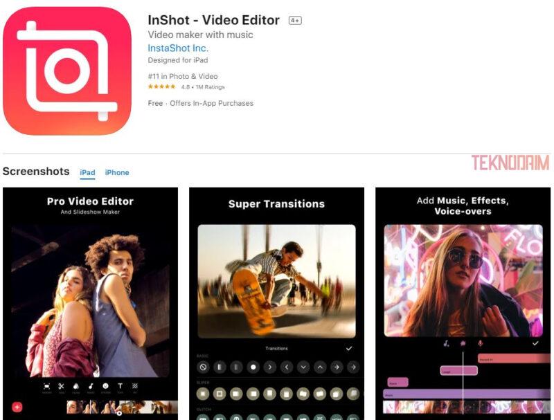 Aplikasi Edit Video Terbaik iPhone, Inshot
