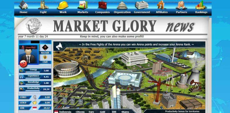 Game Penghasil Uang 2020, Market Glory