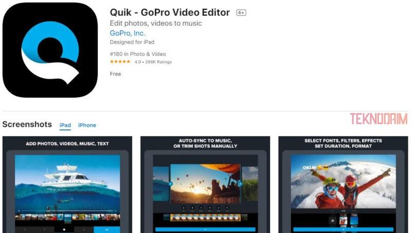 Aplikasi Edit Video Terbaik iPhone, Quik Video Editor
