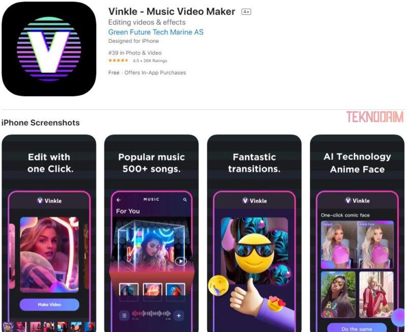 Aplikasi Edit Video Terbaik iPhone, Vinkle