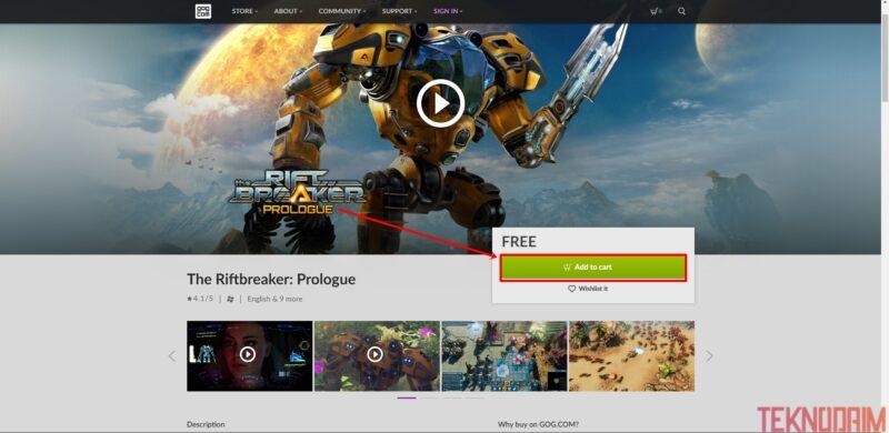 Cara Download Game di Laptop, Add To Cart Untuk Mendownload Game
