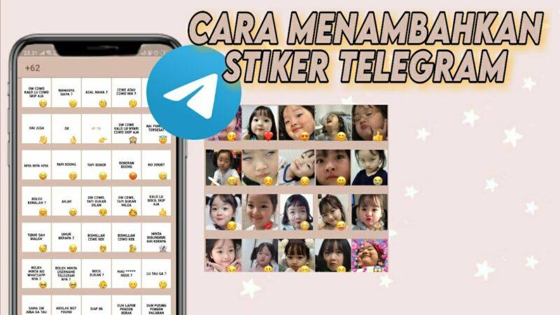 Ilustrasi Stiker Telegram