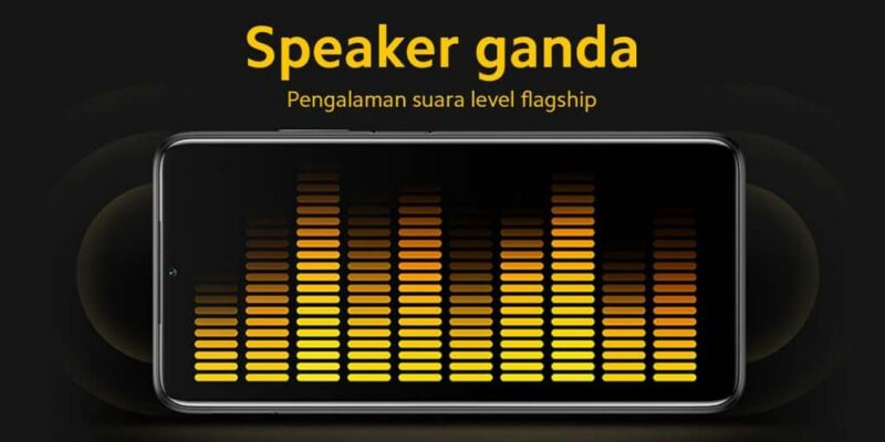 Kelebihan POCO M3, Menggunakan Dual Speaker Hi Res Audio