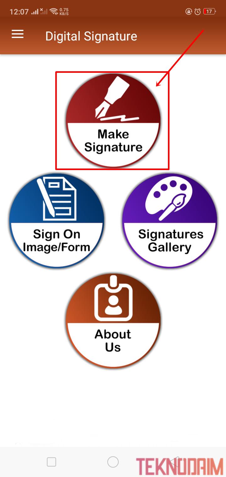 Pilih Make Signature