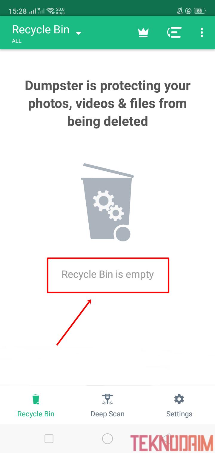 Tidak Ada Apa Apa Di Recycle Bin