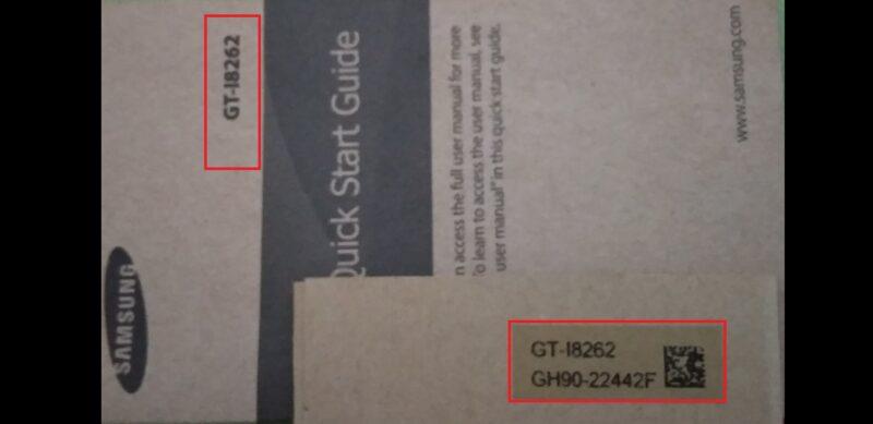 Cek Tipe Hp Samsung Lewat Kardus