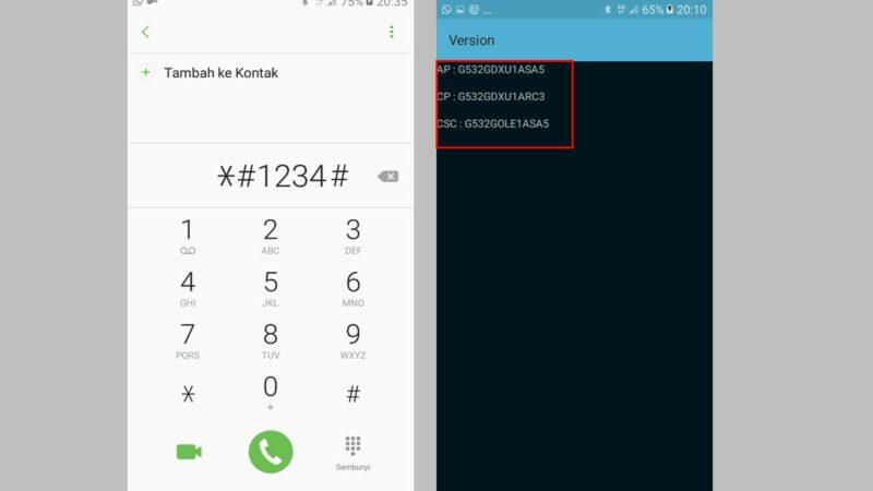 Cek Tipe Hp Samsung Menggunakan Kode Rahasia