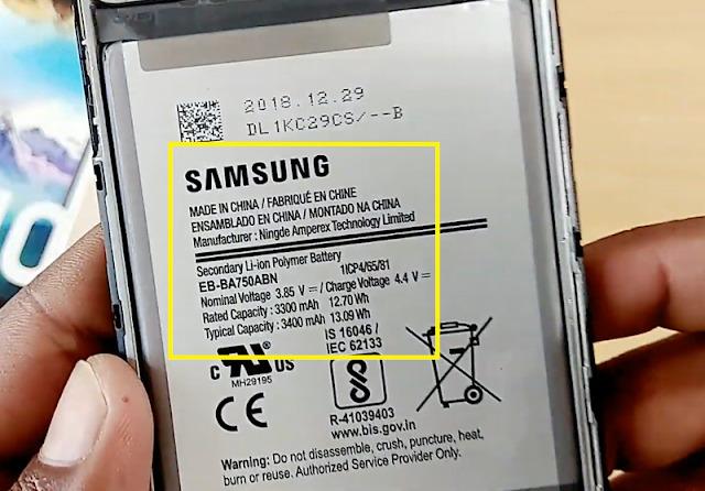 Contoh Cek Tipe Hp Samsung Lewat Bagian Baterai