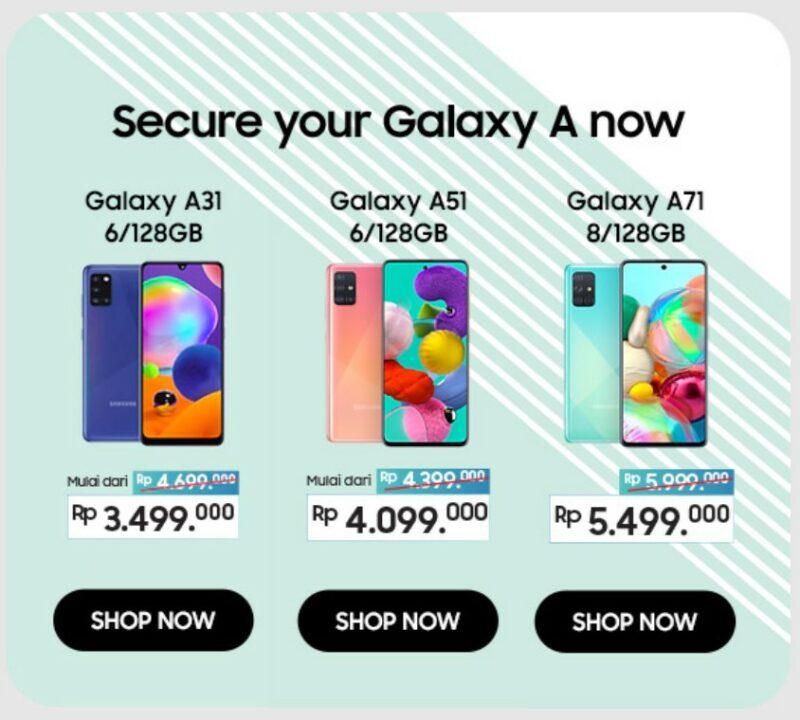 Smartphone Samsung Galaxy A Series Turun Harga Di Indonesia