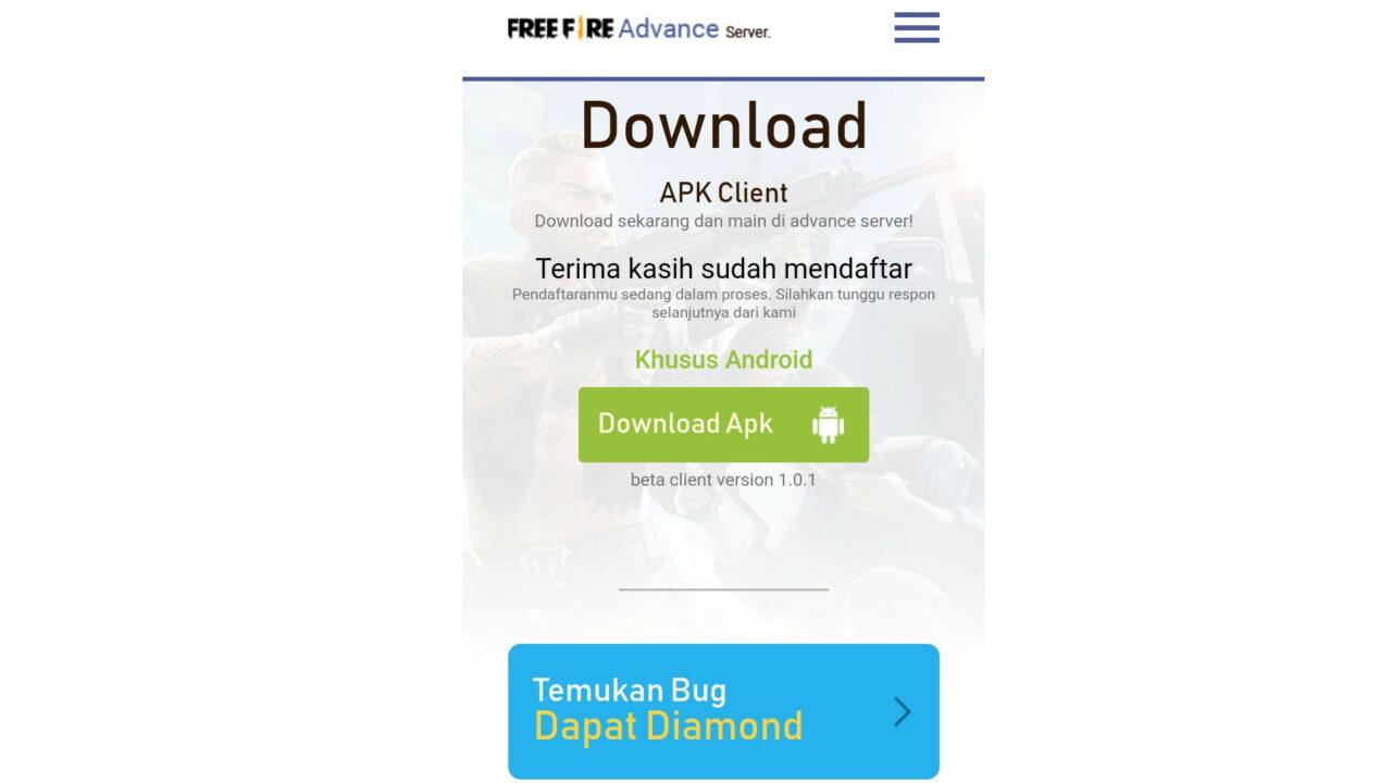 Cara Download Advance Server FfCara Download Advance Server FF