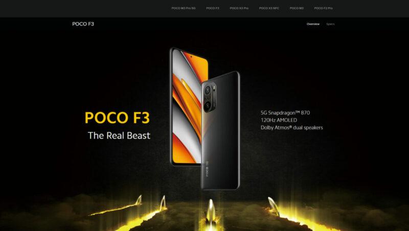 Wujud dari Poco F3 | Depan dan Belakang HP Gaming Murah Terbaik 2021