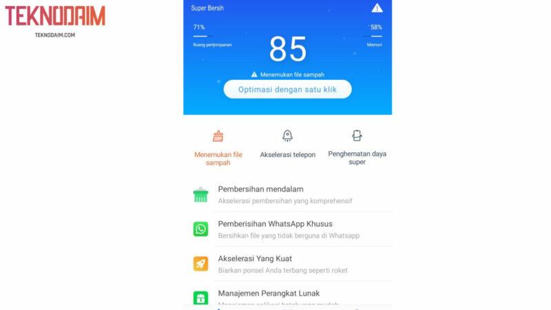 Bersihkan Sampah Aplikasi