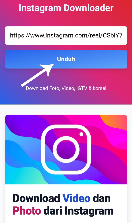 Cara Download Video Reels di Instagram